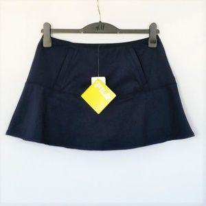 New FILA Women's Skirt Skort Large Navy Flare Hem
